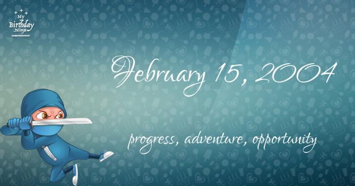 February 15, 2004 Birthday Ninja