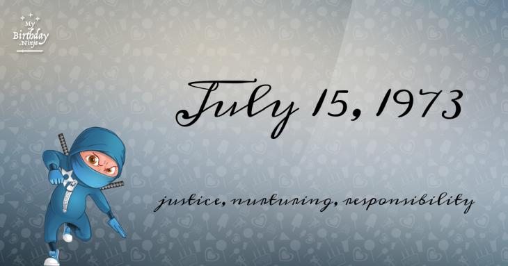 July 15, 1973 Birthday Ninja