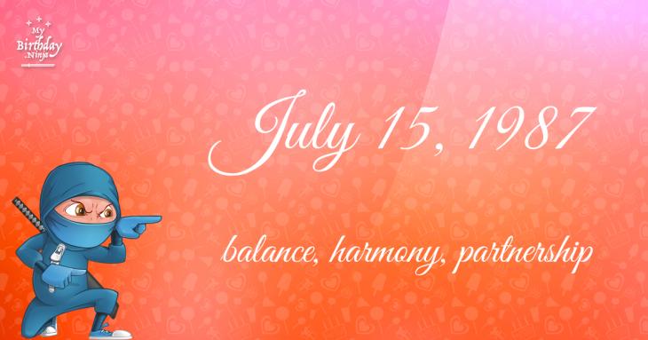 July 15, 1987 Birthday Ninja