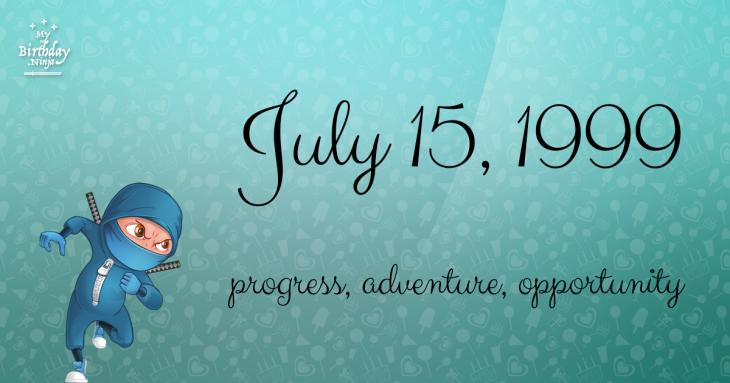 July 15, 1999 Birthday Ninja