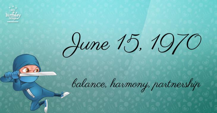 June 15, 1970 Birthday Ninja