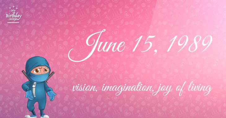 June 15, 1989 Birthday Ninja