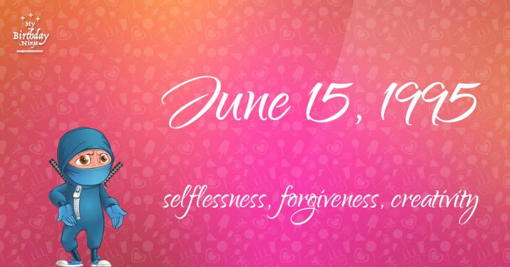 June 15, 1995 Birthday Ninja