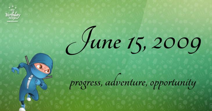 June 15, 2009 Birthday Ninja