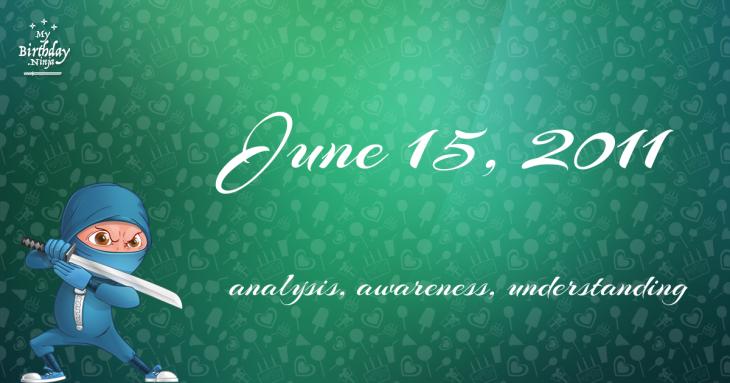June 15, 2011 Birthday Ninja