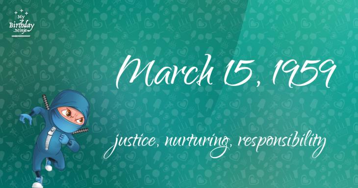 March 15, 1959 Birthday Ninja