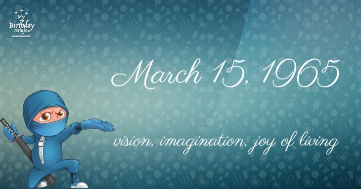 March 15, 1965 Birthday Ninja