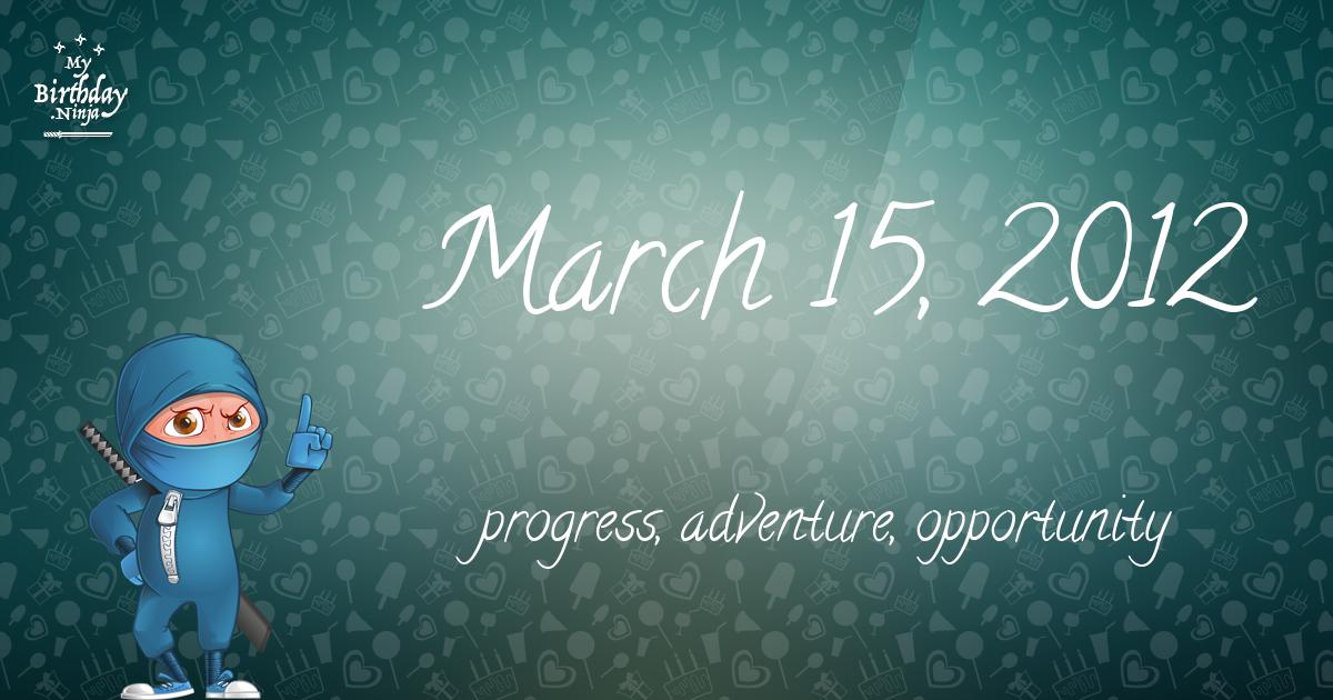 March 15, 2012 Birthday Ninja Poster