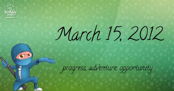 March 15, 2012 Birthday Ninja