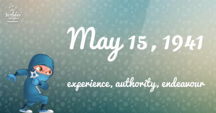 May 15, 1941 Birthday Ninja