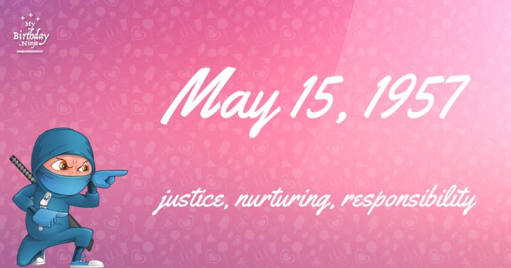 May 15, 1957 Birthday Ninja
