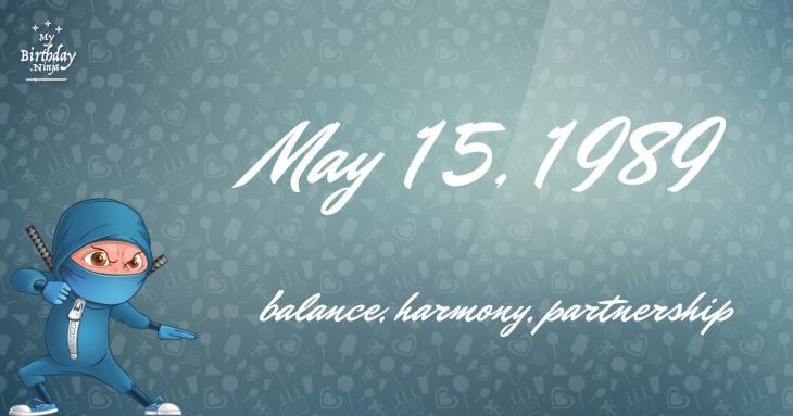 May 15, 1989 Birthday Ninja