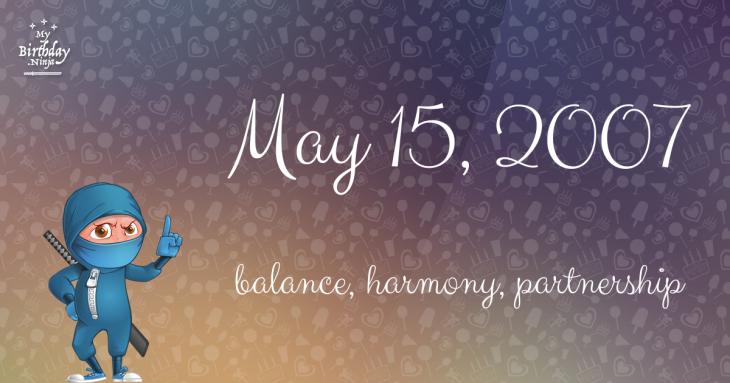May 15, 2007 Birthday Ninja