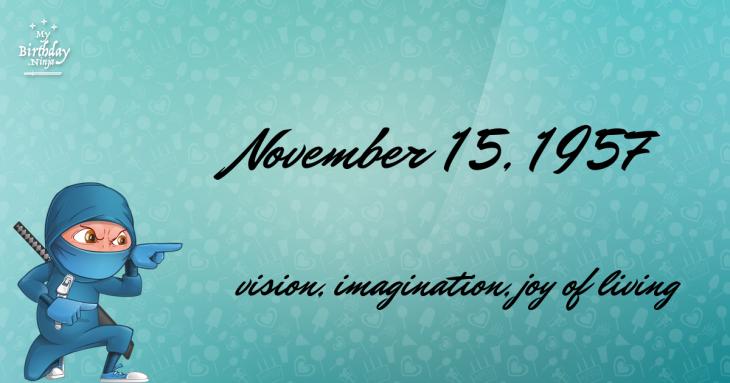 November 15, 1957 Birthday Ninja