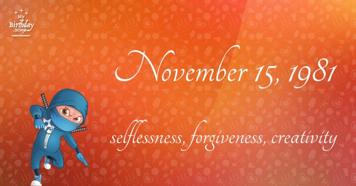 November 15, 1981 Birthday Ninja