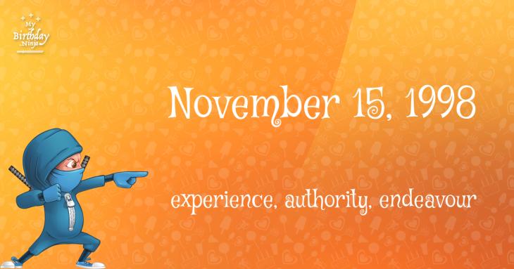 November 15, 1998 Birthday Ninja