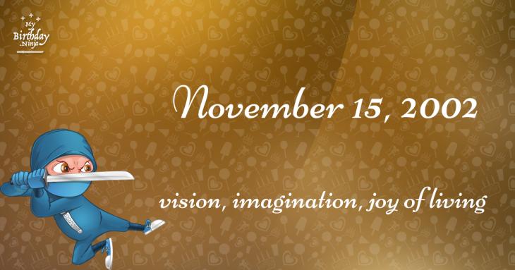 November 15, 2002 Birthday Ninja