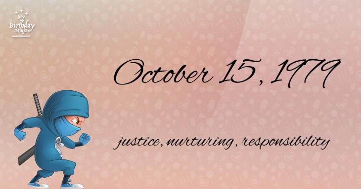 October 15, 1979 Birthday Ninja