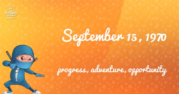 September 15, 1970 Birthday Ninja