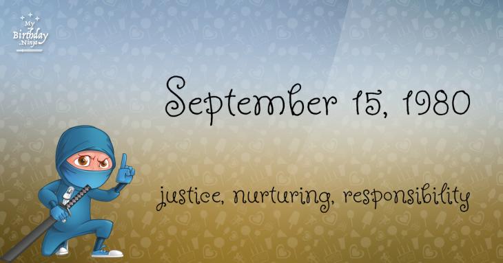 September 15, 1980 Birthday Ninja