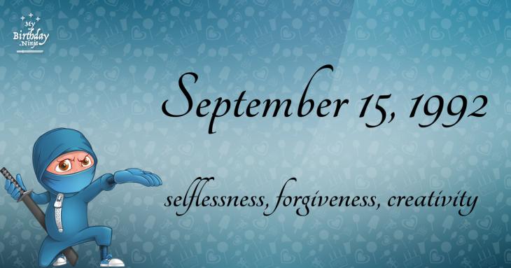 September 15, 1992 Birthday Ninja