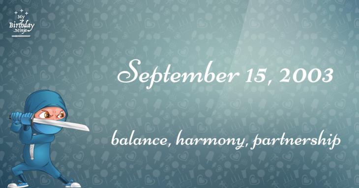September 15, 2003 Birthday Ninja