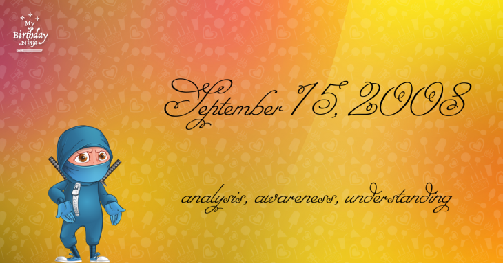 September 15, 2008 Birthday Ninja