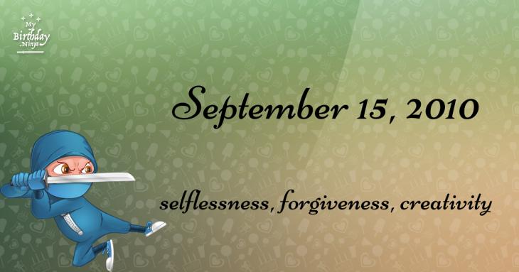 September 15, 2010 Birthday Ninja
