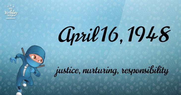 April 16, 1948 Birthday Ninja