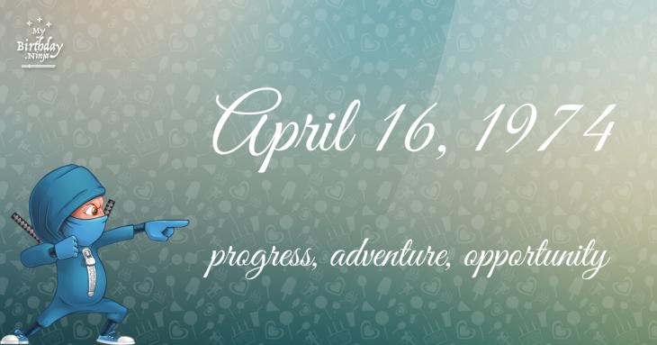 April 16, 1974 Birthday Ninja