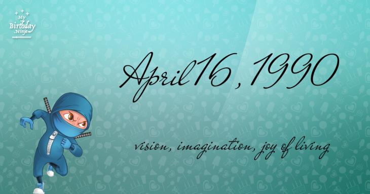 April 16, 1990 Birthday Ninja