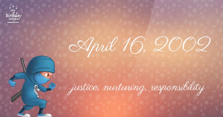 April 16, 2002 Birthday Ninja