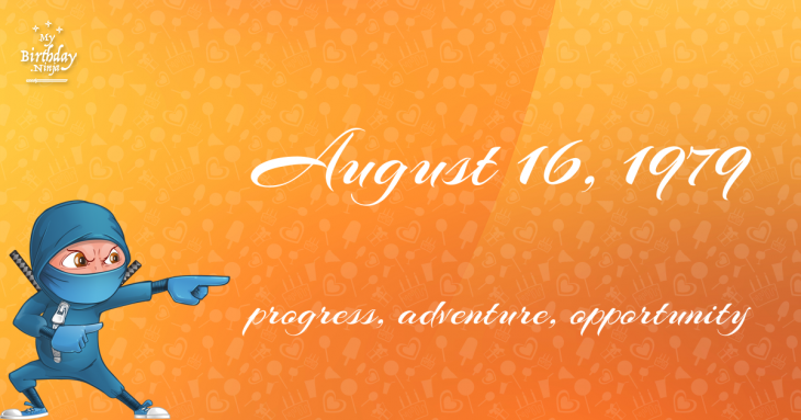 August 16, 1979 Birthday Ninja