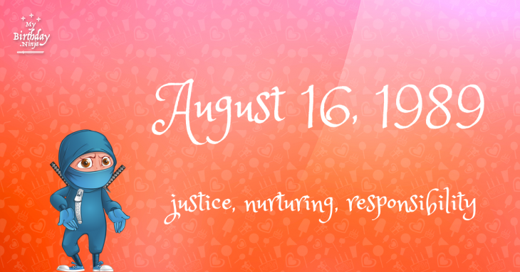 August 16, 1989 Birthday Ninja