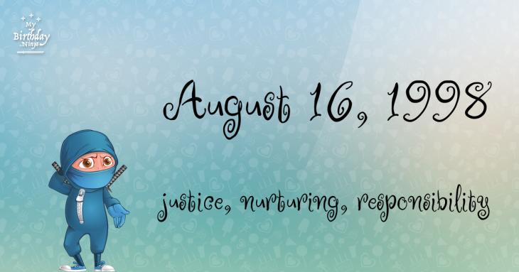 August 16, 1998 Birthday Ninja