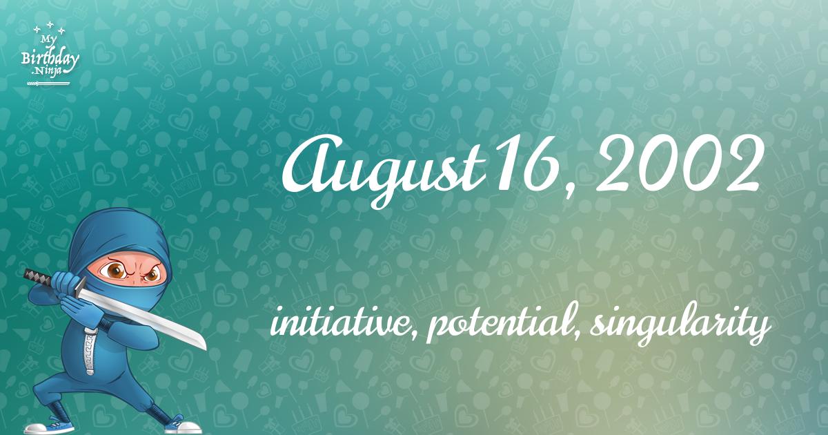 August 16, 2002 Birthday Ninja Poster