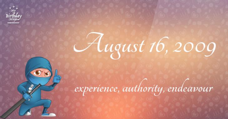 August 16, 2009 Birthday Ninja