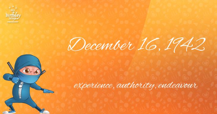December 16, 1942 Birthday Ninja