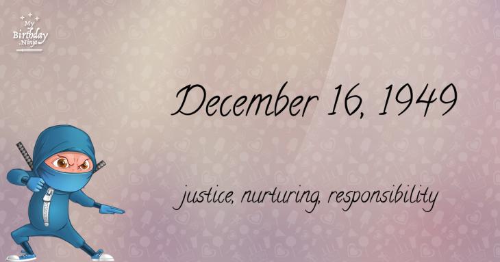 December 16, 1949 Birthday Ninja