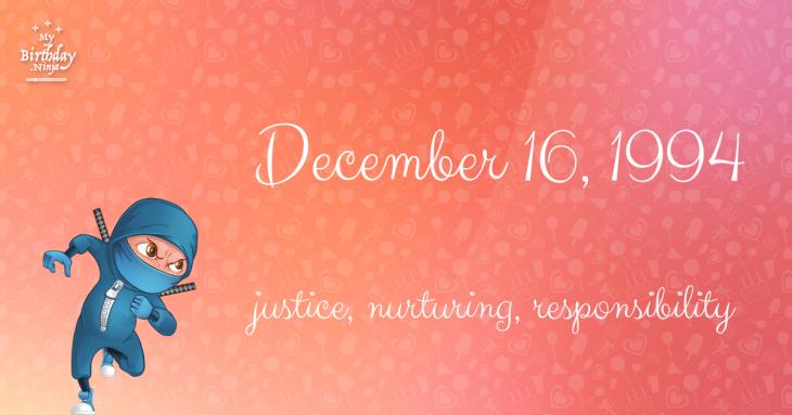 December 16, 1994 Birthday Ninja