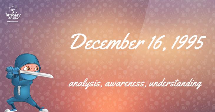December 16, 1995 Birthday Ninja