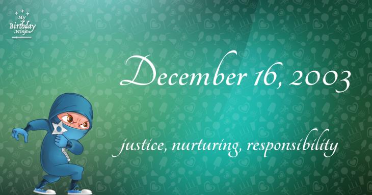 December 16, 2003 Birthday Ninja