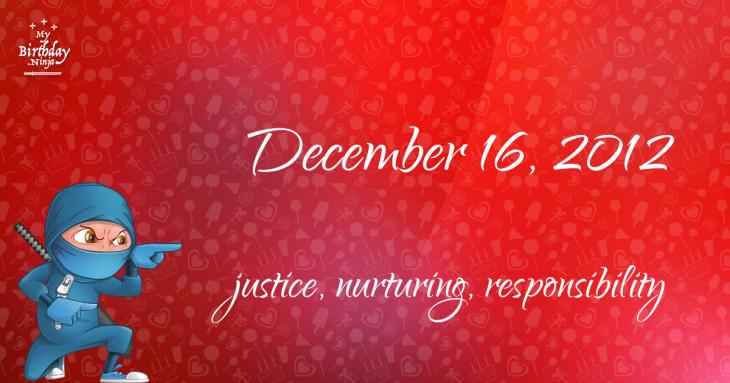 December 16, 2012 Birthday Ninja