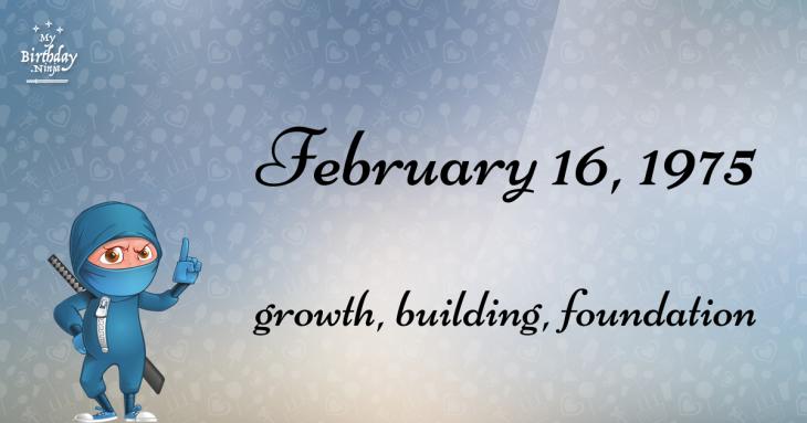 February 16, 1975 Birthday Ninja