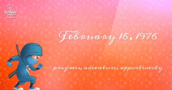 February 16, 1976 Birthday Ninja