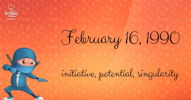 February 16, 1990 Birthday Ninja