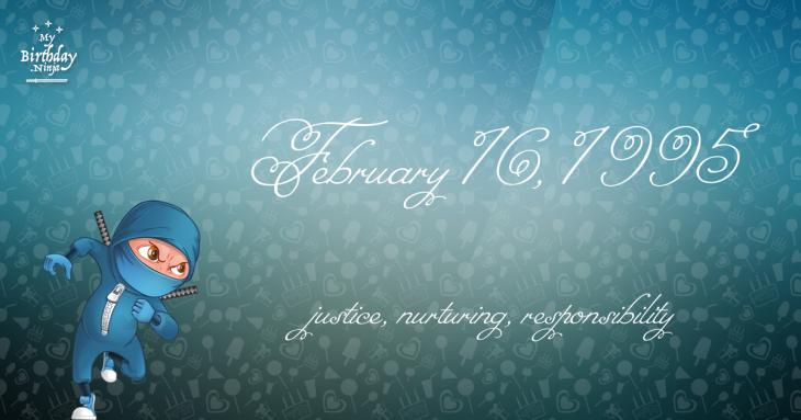 February 16, 1995 Birthday Ninja