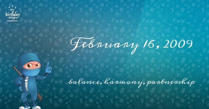 February 16, 2009 Birthday Ninja
