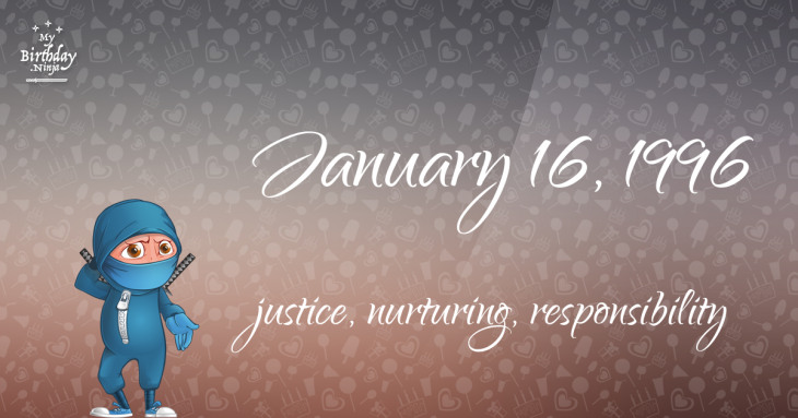 January 16, 1996 Birthday Ninja