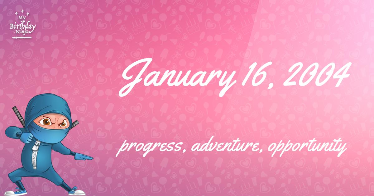 January 16, 2004 Birthday Ninja Poster